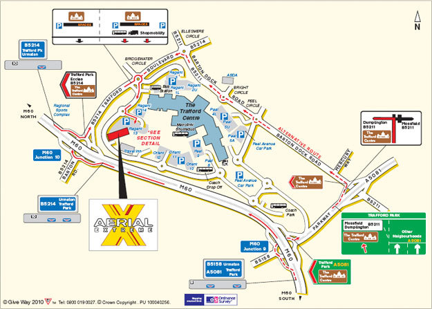 Map Of Trafford Centre intu trafford centre map   Mall Xplorer